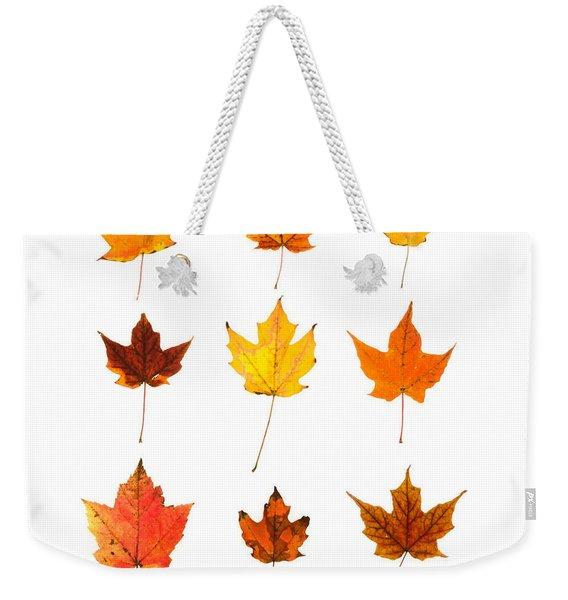 Orange And Yellow Autumn Leaves Weekender Tote Bag