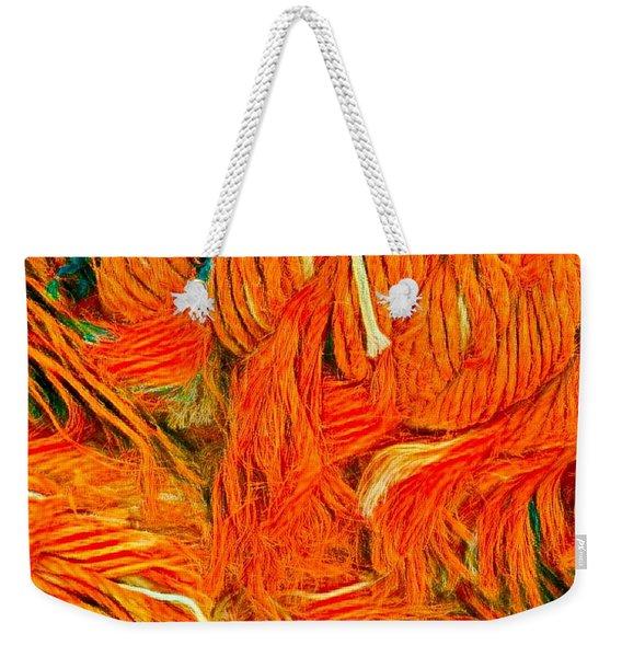 Orange Art Weekender Tote Bag