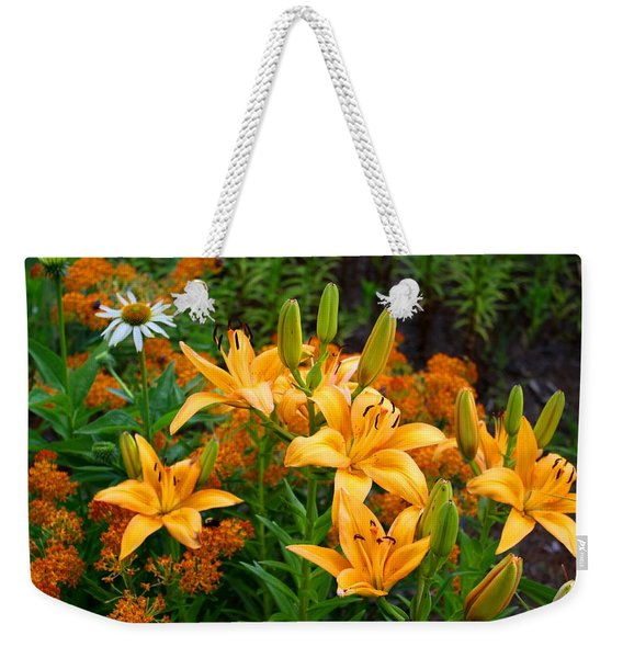 Orange Asiatic Lilies And Butterfly Weed Weekender Tote Bag