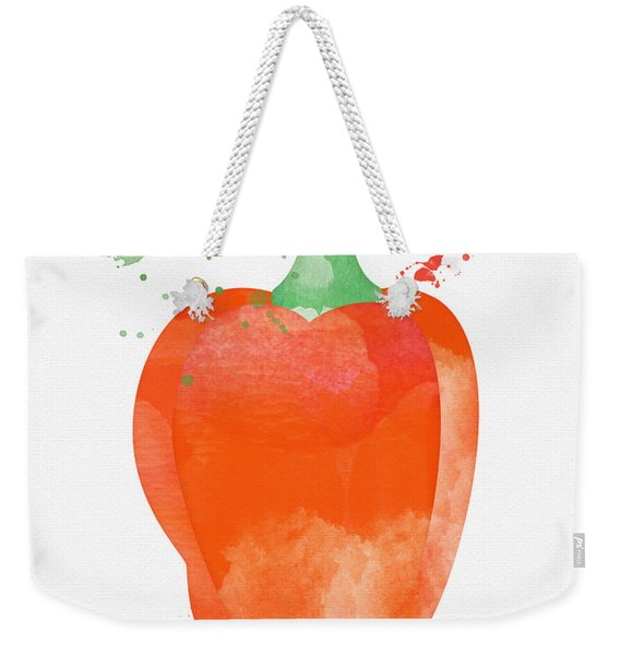 Orange Bell Pepper  Weekender Tote Bag