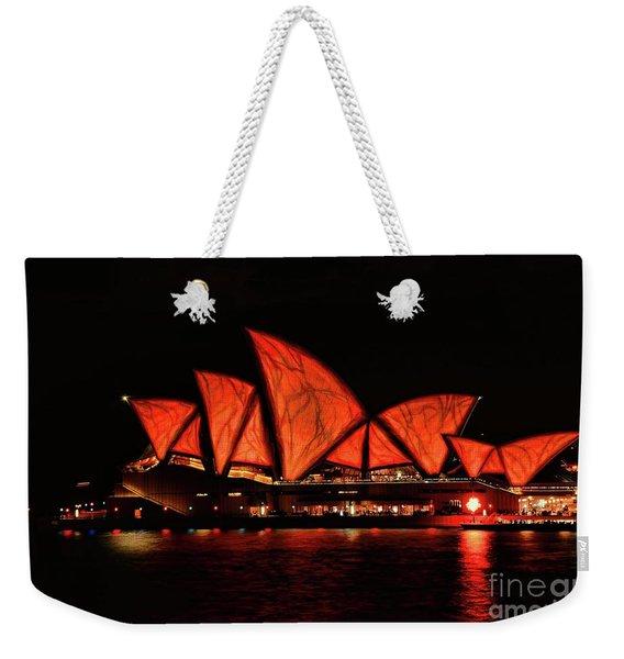 Orange Blast Weekender Tote Bag