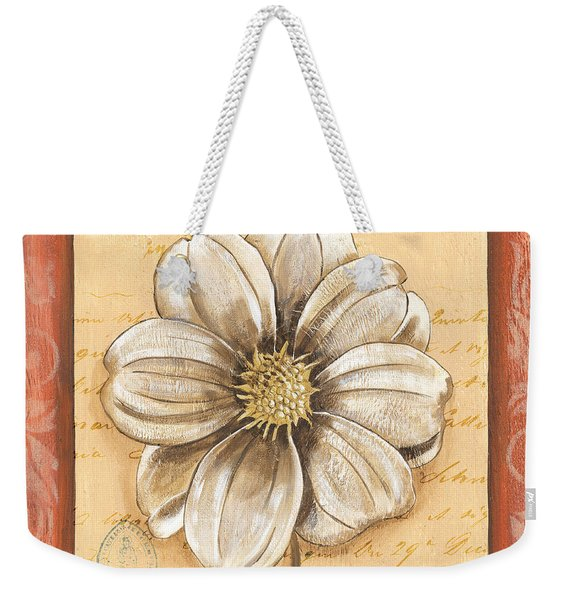 Orange Bohemian Dahlia 1 Weekender Tote Bag