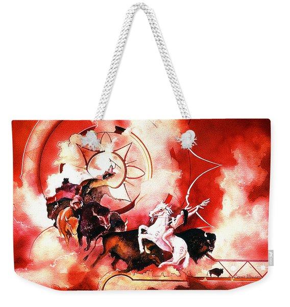 Orange Buffalo Spirit Weekender Tote Bag