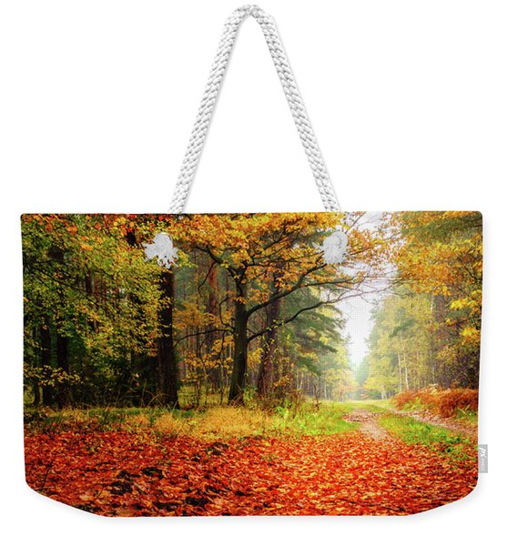Weekender Tote Bag featuring the photograph Orange Carpet by Dmytro Korol