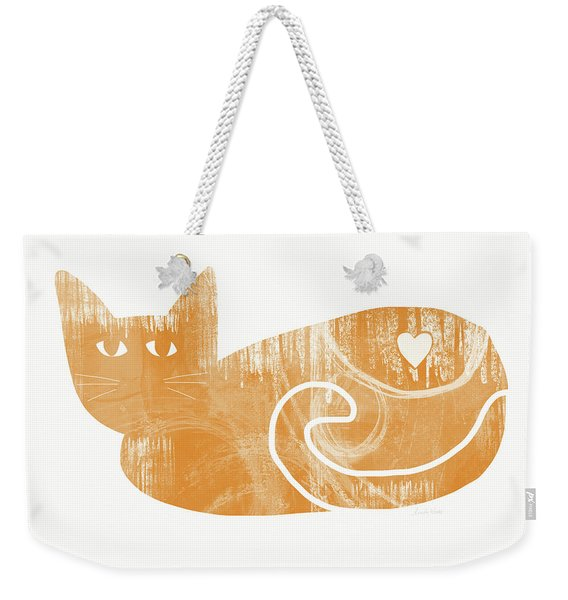 Orange Cat- Art By Linda Woods Weekender Tote Bag