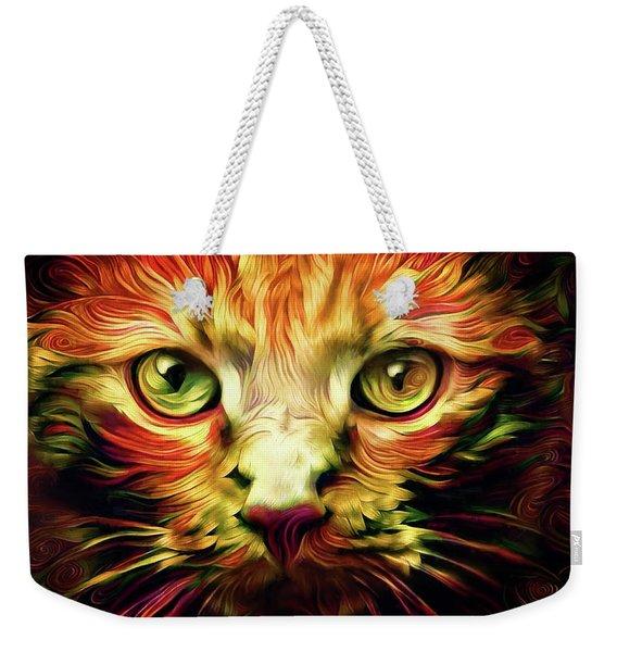 Orange Cat Art - Feed Me Weekender Tote Bag