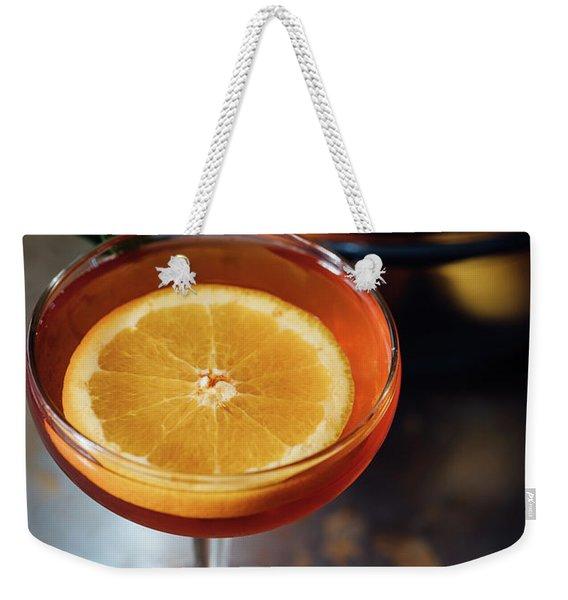 Orange Cocktail Weekender Tote Bag