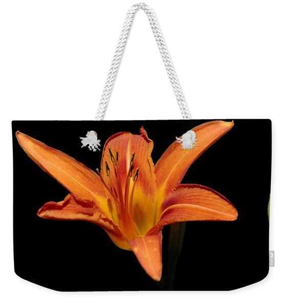 Orange Day-lily Weekender Tote Bag