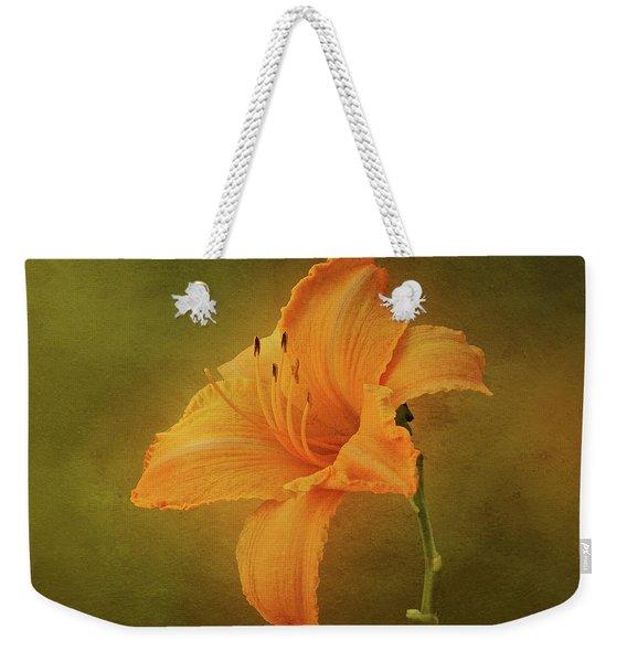 Orange Daylily Weekender Tote Bag