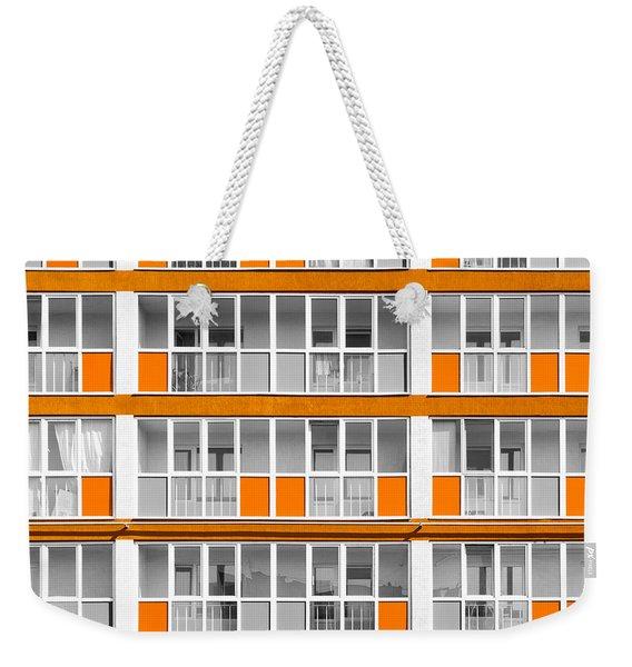 Orange Exterior Decoration Details Of Modern Flats Weekender Tote Bag