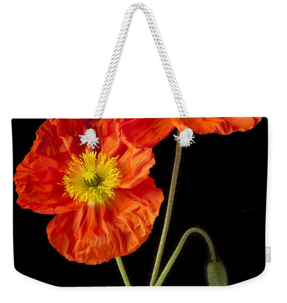 Orange Iceland Poppies Weekender Tote Bag