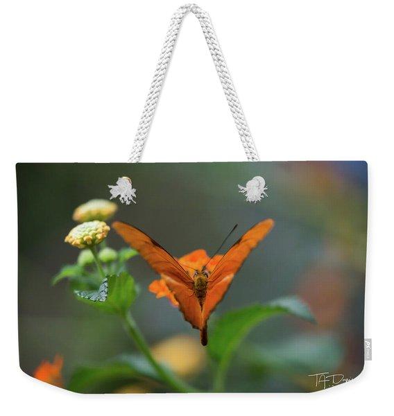 Orange Is The New Butterfly Weekender Tote Bag
