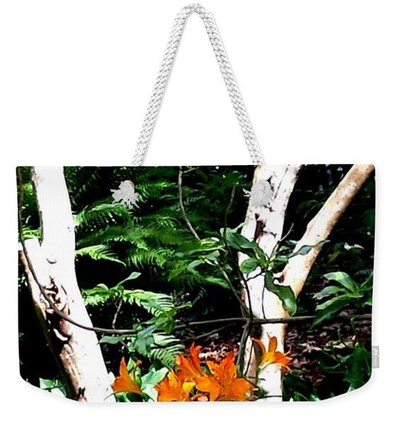 Orange Lilies Weekender Tote Bag