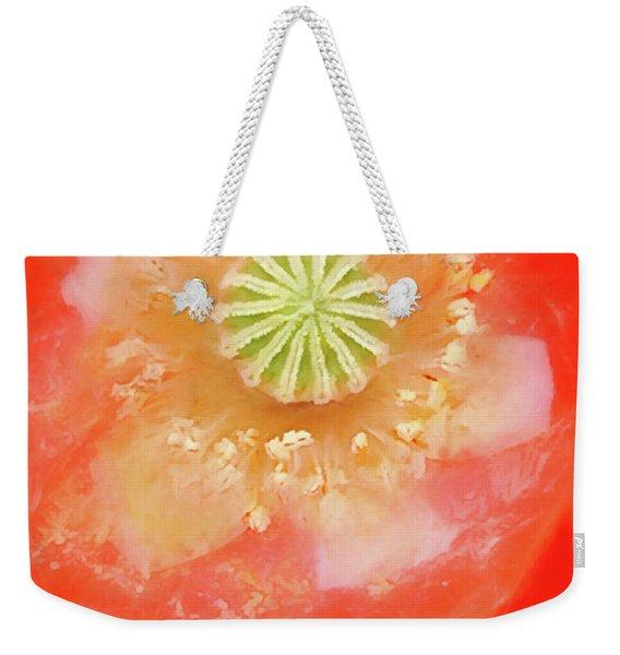 Orange Oriental Poppy Painterly Weekender Tote Bag