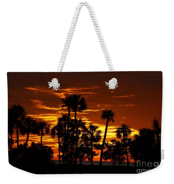 Orange Skies Weekender Tote Bag