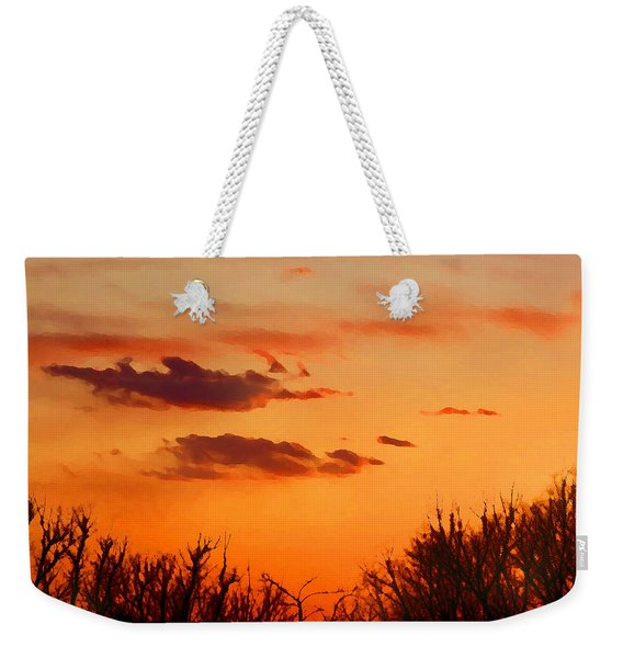 Orange Sky At Night Weekender Tote Bag