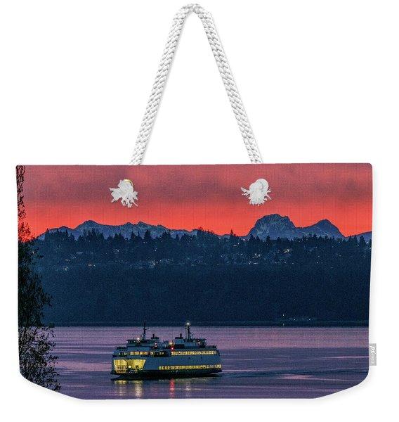 Orange Sky With Purple Sea Weekender Tote Bag