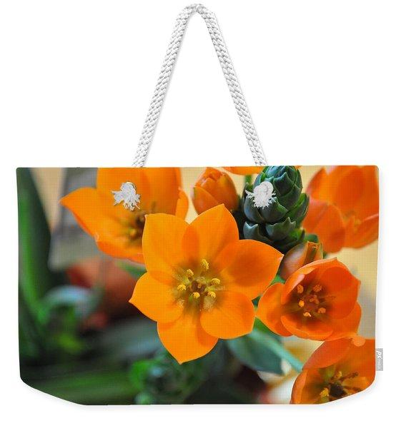 Orange Star Weekender Tote Bag