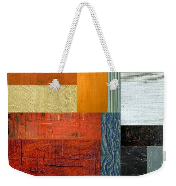 Orange Study With Compliments 1.0 Weekender Tote Bag