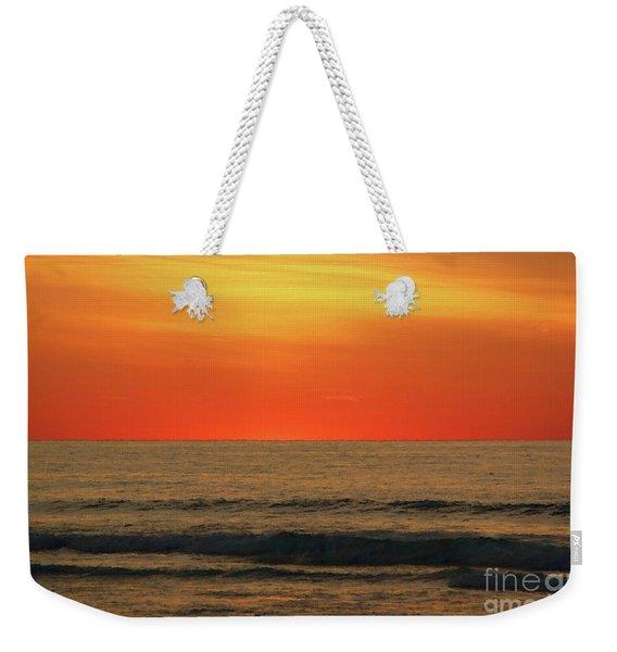 Orange Sunset On The Jersey Shore Weekender Tote Bag