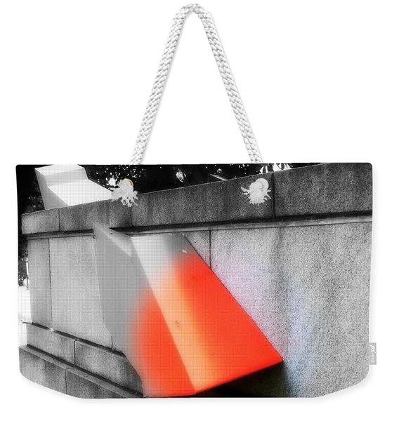 Orange Tipped Arrow Weekender Tote Bag