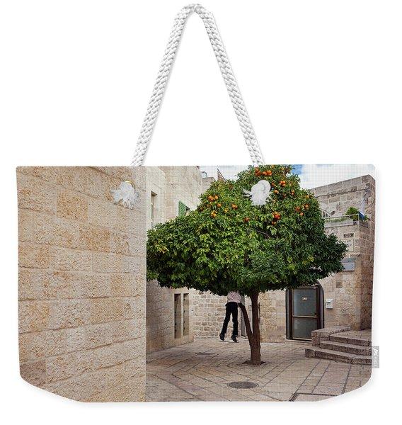 Orange Tree Weekender Tote Bag