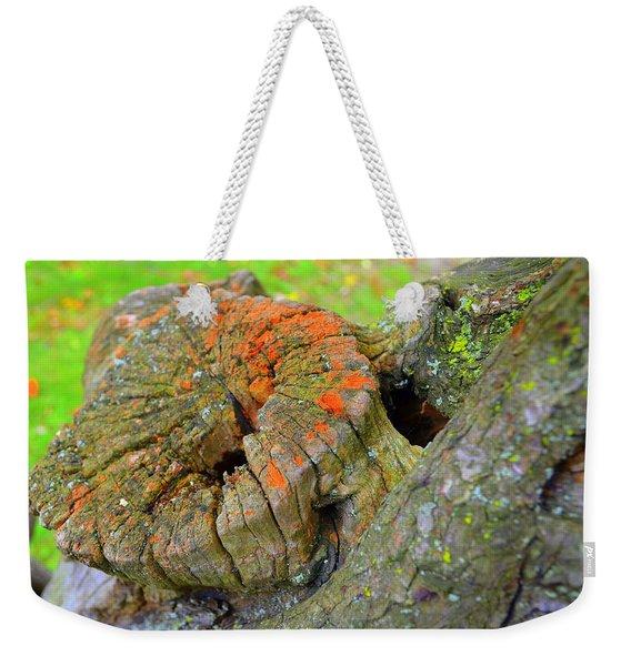 Orange Tree Stump Weekender Tote Bag