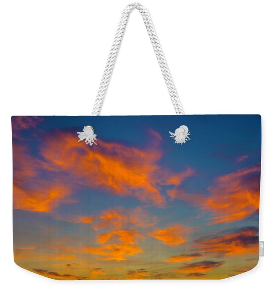 Orange Twllight Clouds Weekender Tote Bag