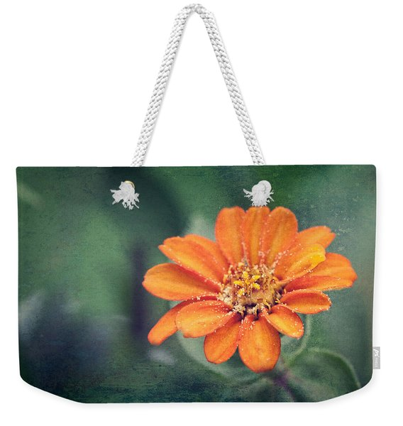 Orange Zinnia Weekender Tote Bag