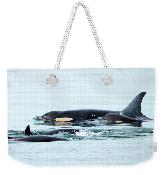 Orca Family Photo Weekender Tote Bag
