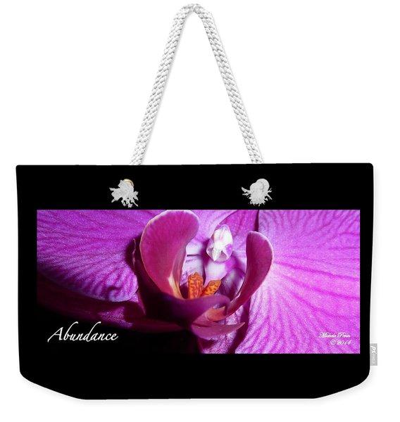 Orchid Abundance Weekender Tote Bag