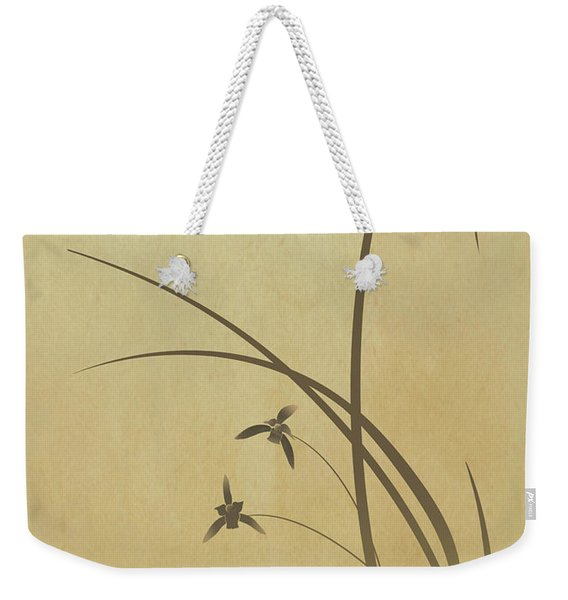 Orchid And Dragonfly Weekender Tote Bag