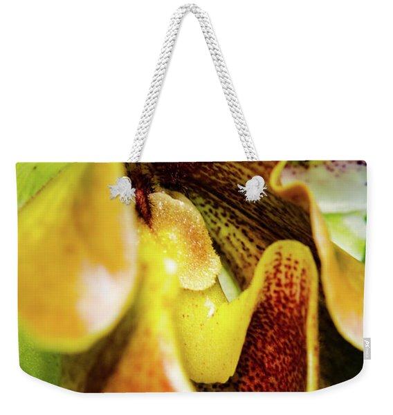 Orchid Faces Weekender Tote Bag
