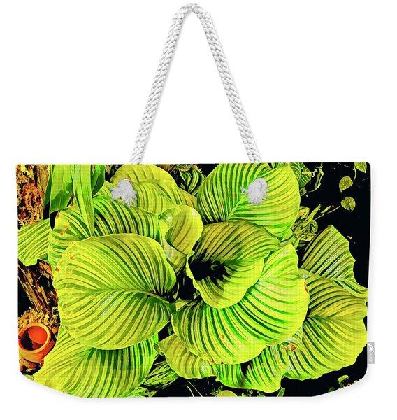 Orchid Green Fade Aloha  Weekender Tote Bag