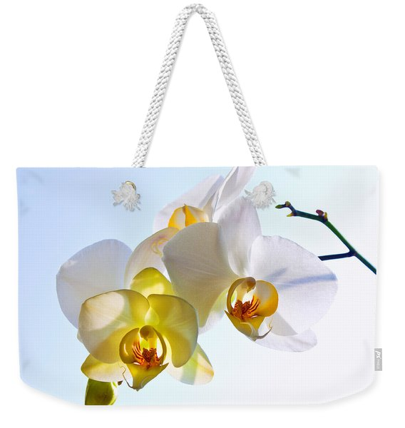 Orchid With Sky Background Weekender Tote Bag