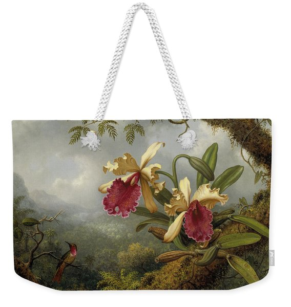 Orchids And Hummingbird Weekender Tote Bag