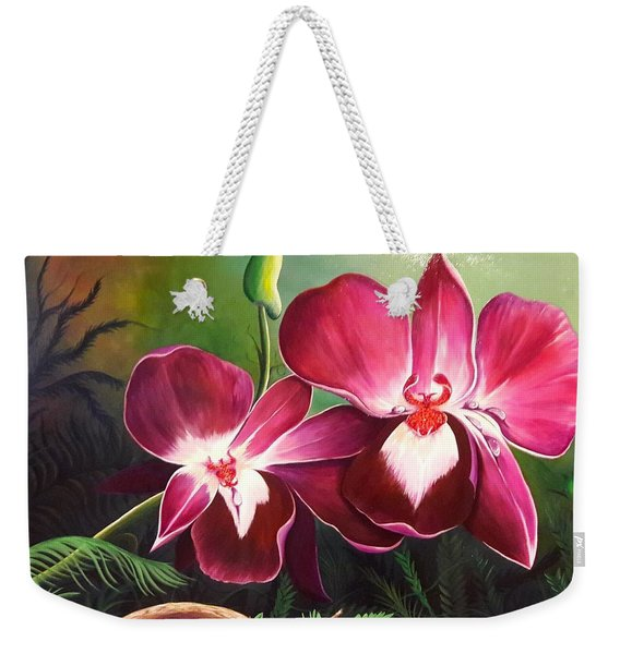 Orchids In The Night Weekender Tote Bag