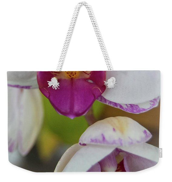 Orchids Up Close Weekender Tote Bag