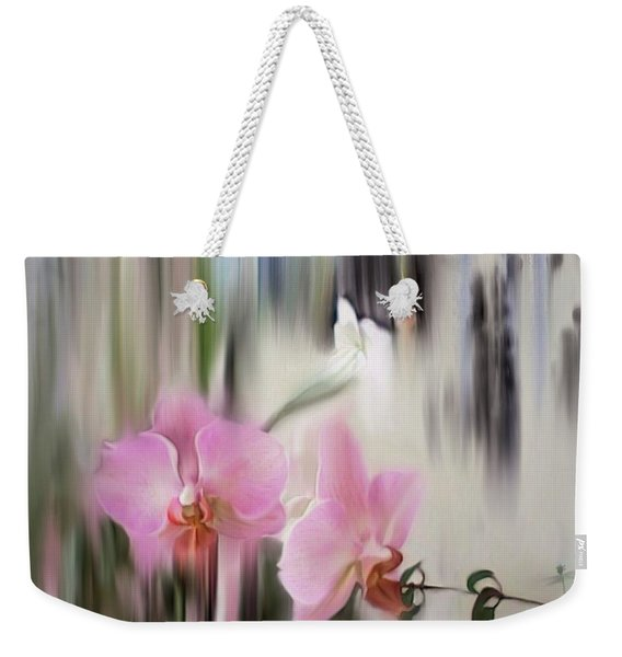 Orchids With Dragonflies Weekender Tote Bag
