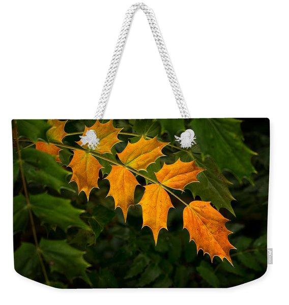 Oregon Grape Autumn Weekender Tote Bag
