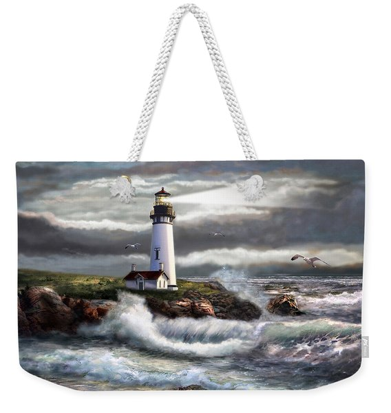 Oregon Lighthouse Beam Of Hope Weekender Tote Bag