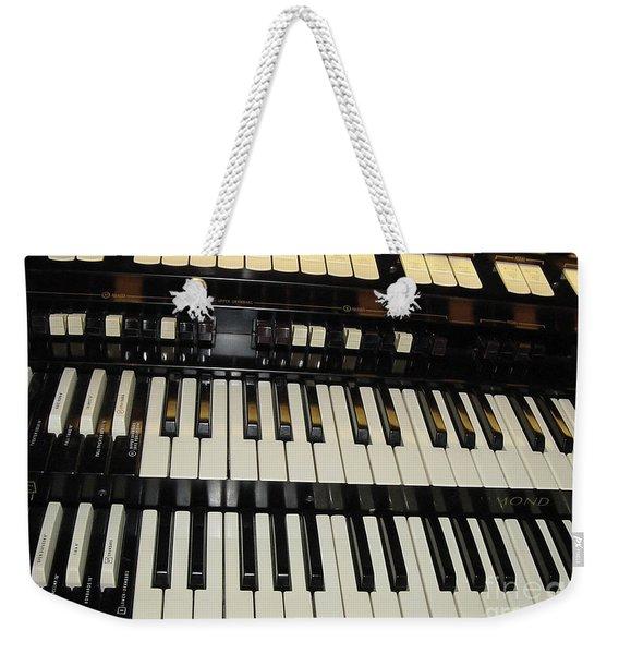 Hammond Organ Keys Weekender Tote Bag