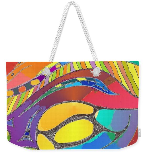 Organic Life Scan Or Cellular Light - Original, Square Weekender Tote Bag
