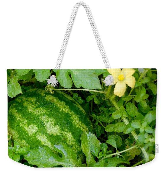Organic Watermelon Weekender Tote Bag