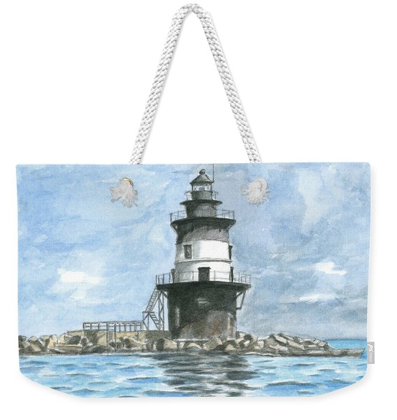 Orient Point Lighthouse Weekender Tote Bag
