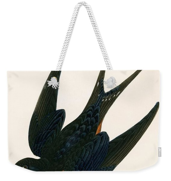 Oriental Chimney Swallow Weekender Tote Bag