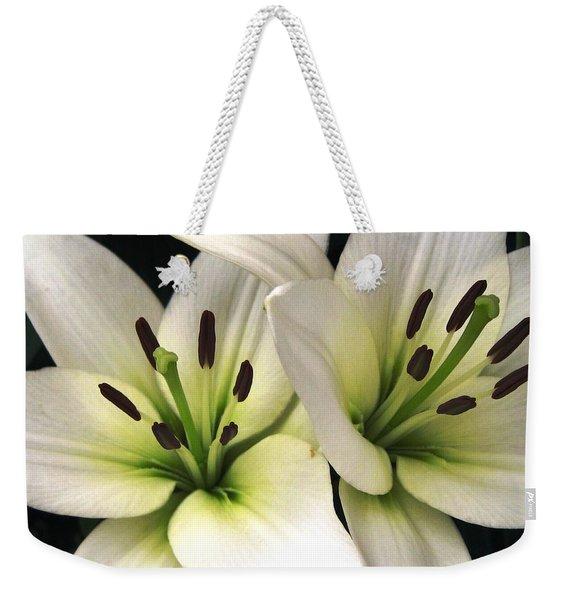 Oriental Lily Named Endless Love Weekender Tote Bag