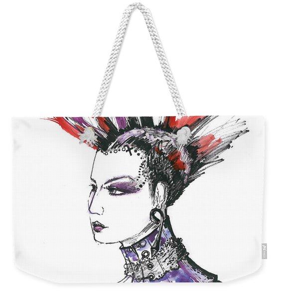 Punk Rock Girl  Weekender Tote Bag