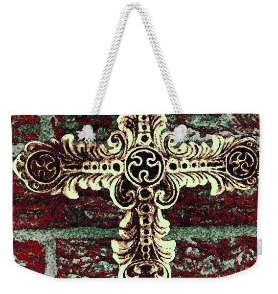 Ornate Cross 1 Weekender Tote Bag