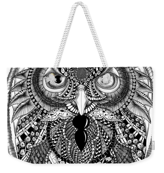 Ornate Owl Weekender Tote Bag